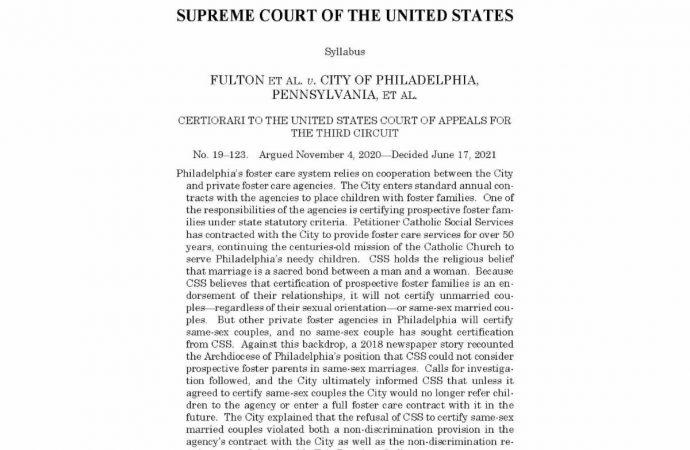 La Corte Suprema emite decisión favorable en el caso de libertad religiosa