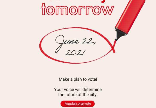 Agudah convoca a votar hoy en las Primarias de Nueva York
