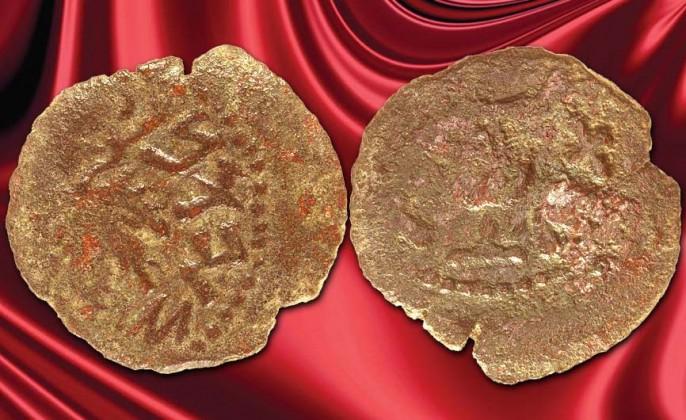 Arqueólogo descubre dos monedas raras que se remontan a las revueltas judías contra Roma