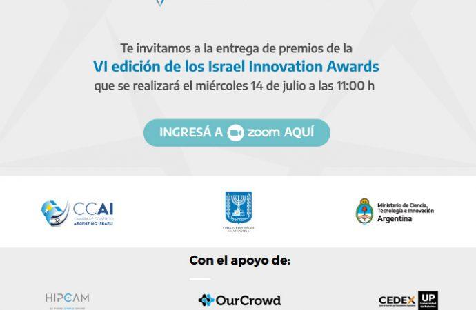 """Transmisión de la entrega de los premios """"VI Edición Israel Innovation Awards 2020"""""""