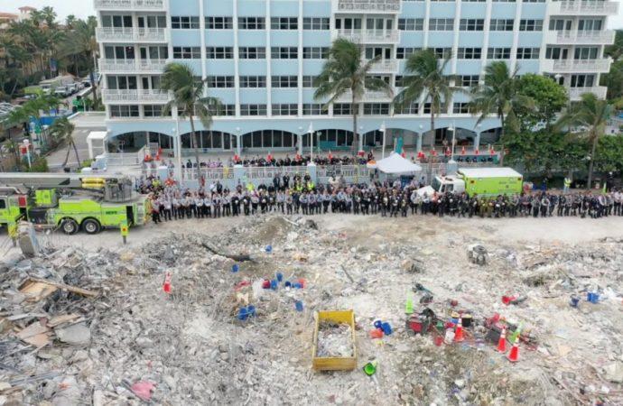 La búsqueda de cuerpos concluye en el sitio del colapso de Surfside