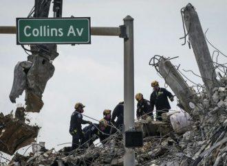 La amenaza de tormenta se cierne sobre la búsqueda renovada en el sitio de condominios de Florida