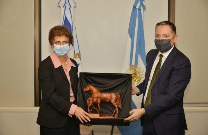 El intendente Fernando Gray mantuvo una reunión con la embajadora de Israel en Argentina, Galit Ronen