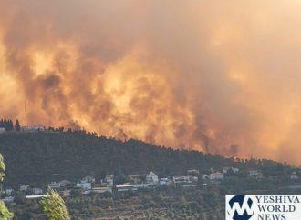 <strong>Videos y fotos.</strong> 10,000 residentes evacuados de las colinas de Jerusalem debido a un incendio masivo