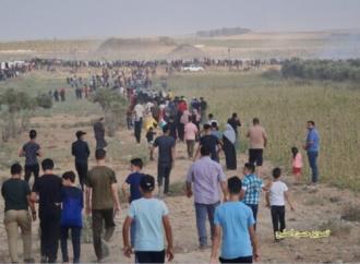 Cientos de árabes se amotinan en la frontera de Gaza