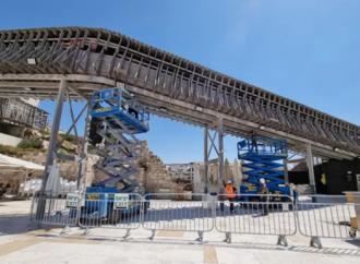 Kotel: Comienzan los trabajos de mantenimiento en el precario puente Mughrabi