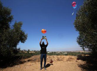 Los terroristas de Gaza continúan lanzando globos incendiarios