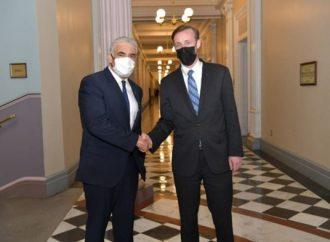 """Lapid en Washington: Sin armas nucleares para Irán, """"economía por seguridad"""" en Gaza"""