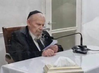 """HaRav Edelstein: """"¿Cómo puede un judío hacer guezeirot (decretos) contra otros judíos?"""""""